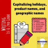 Capitalizing holidays, product names, and geographic names