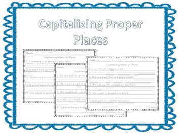 Capitalizing names of places