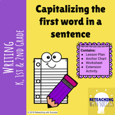 Capitalizing the first word in a sentence