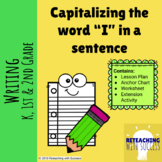 """Capitalizing the word """"I"""" in a sentence"""