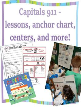 Capitals 911 Lessons, Anchor Chart, Center, and More