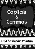 Capitals & Commas