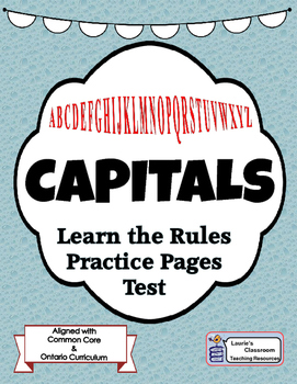 Capitals - When do I use Capitals? Activities, Game, Test