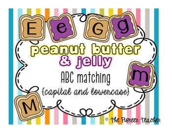 Capitals and Lowercase Matching {Peanut Butter & Jelly}