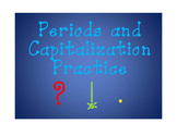 Capitals and Periods Sentence Practice with Sight Words