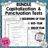 Capitalization & Punctuation Tests for Baseline Assessment (Bundled) Grades 3-5