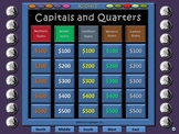 Capitals and Quarters PowerPoint Games by KlickerZ