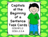 Capitals at the Beginning of a Sentence Task Cards