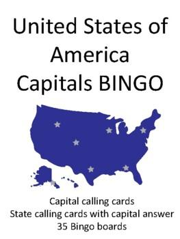Capitals of the United States of America BINGO!