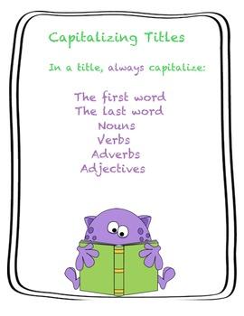 Capitlazing Titles (Common Core Aligned)