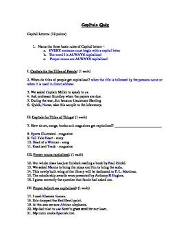 Capitol Letters Assessment (Quiz)