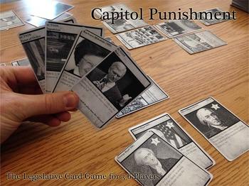 Capitol Punishment - A Legislative Card Game for Grades 6-12