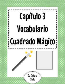 Capítulo 3 Vocabulario Cuadrado Mágico (Magic Square)