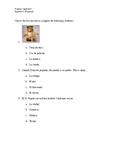 Capitulo 4 Vocab Quiz