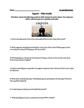 Capote Film Viewing Guide