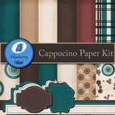 Cappuccino Digital Paper Set - Warm, Dark Colors