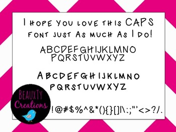 """Caps"" Font by BeauxTy Creations"