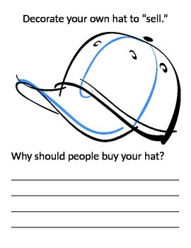 Caps For Sale- CVC words, art, writing, common core, celdt testing