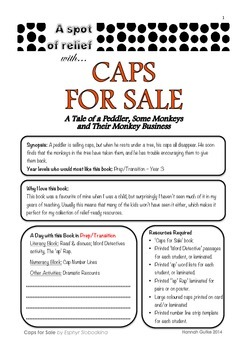 Caps For Sale - Relief /Substitute Teacher Unit (A Spot of Relief)
