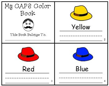 Caps for Sale Color Writing Practice Mini-Book Reader