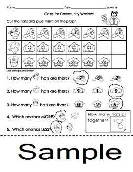 Caps for Sale Graphing Activity Worksheets English and Spa
