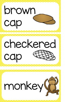 Caps for Sale K-1 Unit Reading Writing Lessons Centers Printables