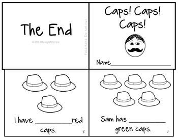 Caps for Sale Emergent Reader Mini-Book