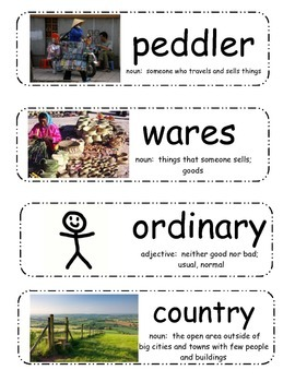Caps for Sale Vocabulary Cards