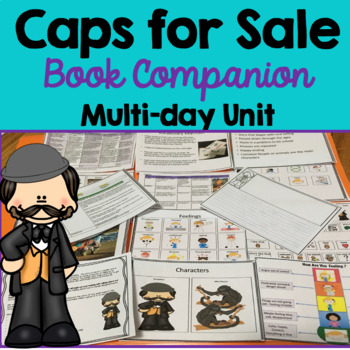 Caps for Sale: book companion,  Vocabulary, Writing Prompt