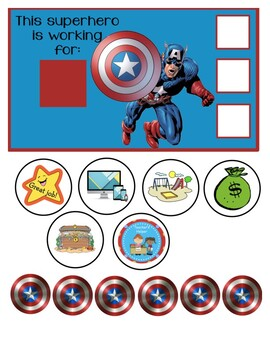 "Captain America Behavior Chart ""I am working for"""