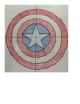 Captain America Coordinate Plane Drawing