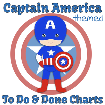 Captain America Themed To Do & Done Visual Chart (Routine Cards Included!)