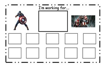 Captain America Token Board