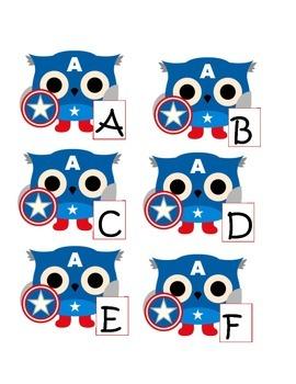 Captain American ABC Match