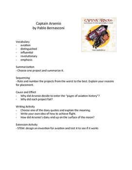 Captain Arsenio - Teaching Literary Skills with Picture Books