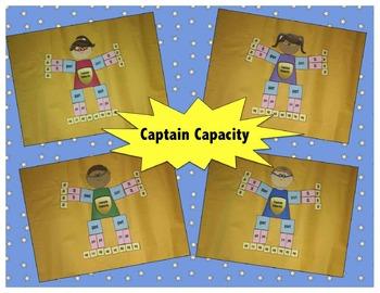 """Captain Capacity"" (Gallon Man, Measurement) Craftivity"