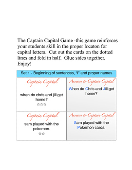 Captain Capital - Capital Letters Game