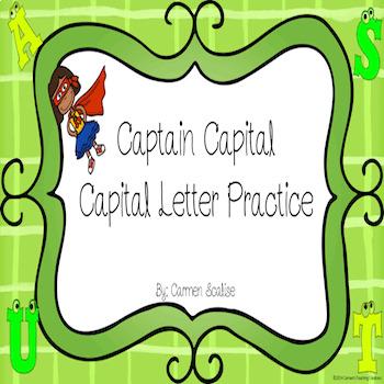 Captain Capital- Capital letter practice