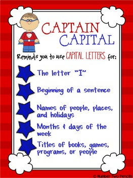 Captain Capital Teaches Capitalization!