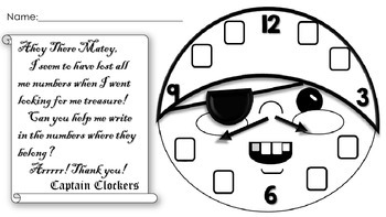 Captain Clockers: Introduction To Telling Time Freebie