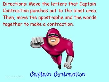 Captain Contraction Smartboard Game (would)