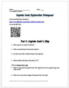 Captain Cook Exploration Webquest