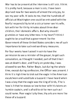 Captain Henry Wirz (Andersonville) Diary Entry