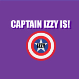 """Captain Izzy Is (Using 3rd person present tense of the """"to"""