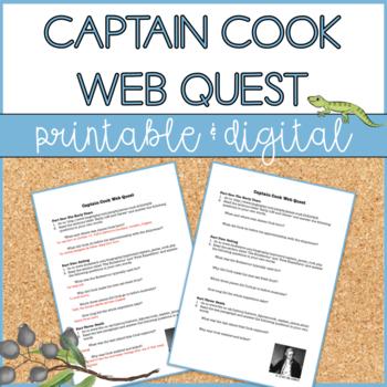 Captain James Cook - Web Quest