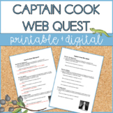 Captain James Cook | Web Quest | Distance Learning | Google Slides