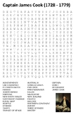 Captain James Cook Word Search