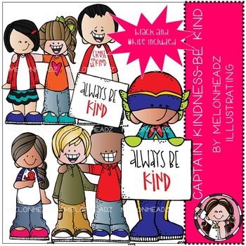 Captain Kindness clip art - Be Kind - Mini - Melonheadz Clipart