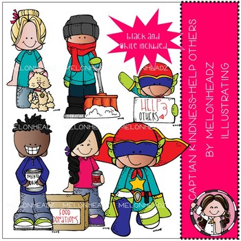 Captain Kindness clip art - Help Others - by Melonheadz