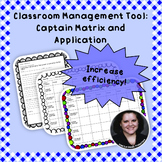 Captain Matrix: Classroom Management Tool - Classroom Jobs